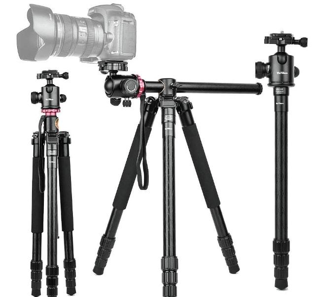 Yotilon 360°Horizontal Rotation Professional Travel Camera Tripod - Best tripod for shooting straight down