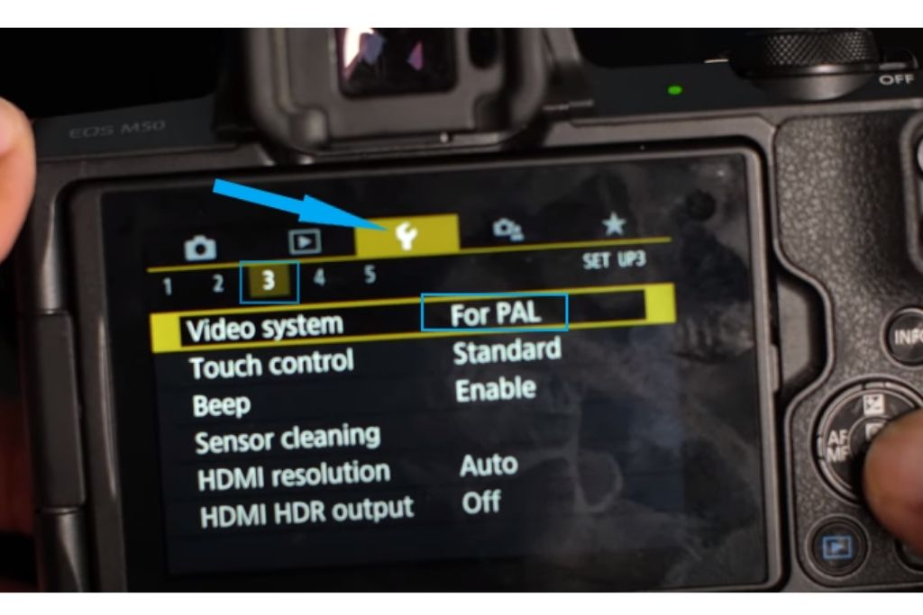 can you get 24 fps on a canon m50-m50 camera display settings
